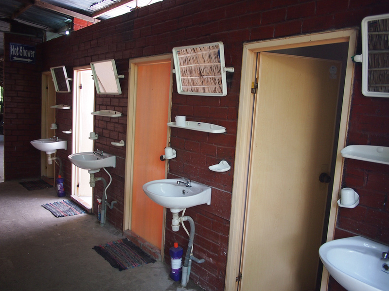 Shared bathroom at Nam Thanh Homestay