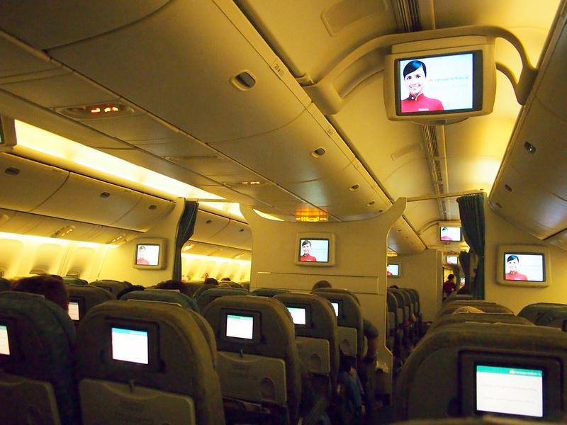 Vietnam Airlines economy cabin