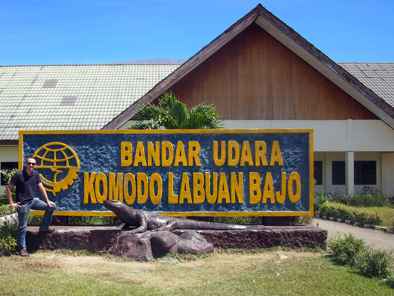 James at Komodo Labuan Bajo Airport - Flores