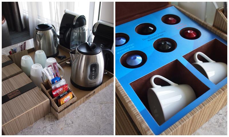 Espresso machine in the room at Radisson Blu Plaza Chongqing