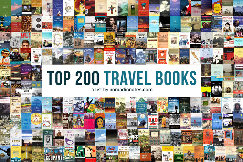 Top 200 Travel Books - a list by nomadicnotes.com