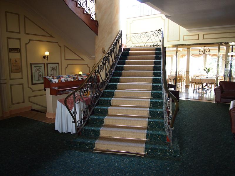 Hansa Hotel stairs