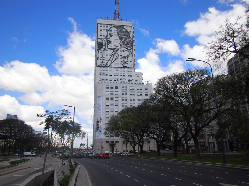 Eva Peron on building