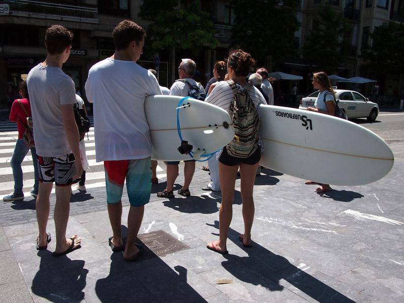 San Sebastian surfers