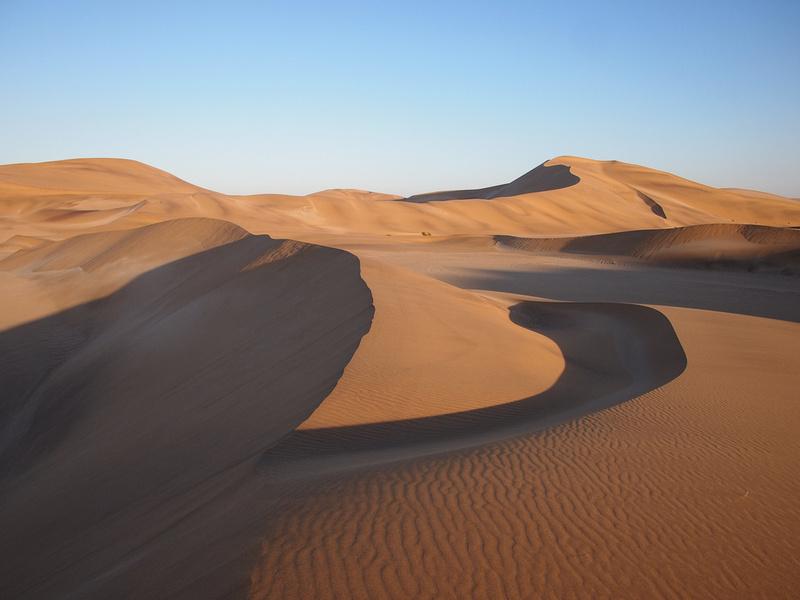 Sand dunes near Swakopmund, Namibia