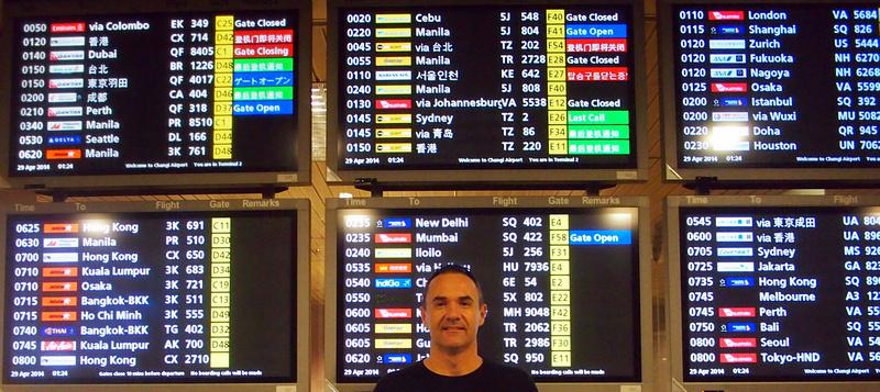 Departure Board - Singapore Changi Airport