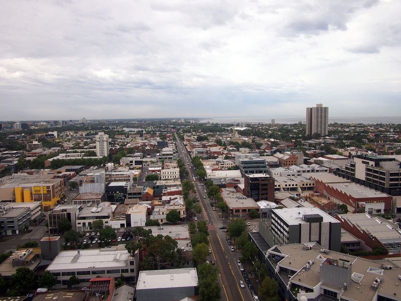 Southbank apartment view of South Melbourne