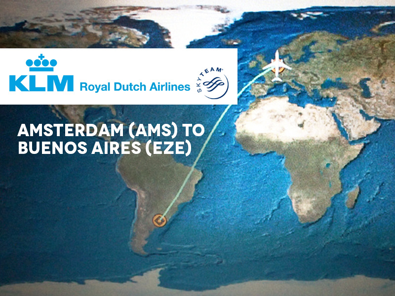 KLM - Amsterdam (AMS) to Buenos Aires (EZE)