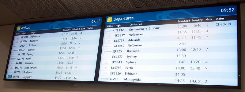 Darwin International Airport arrivals and departures
