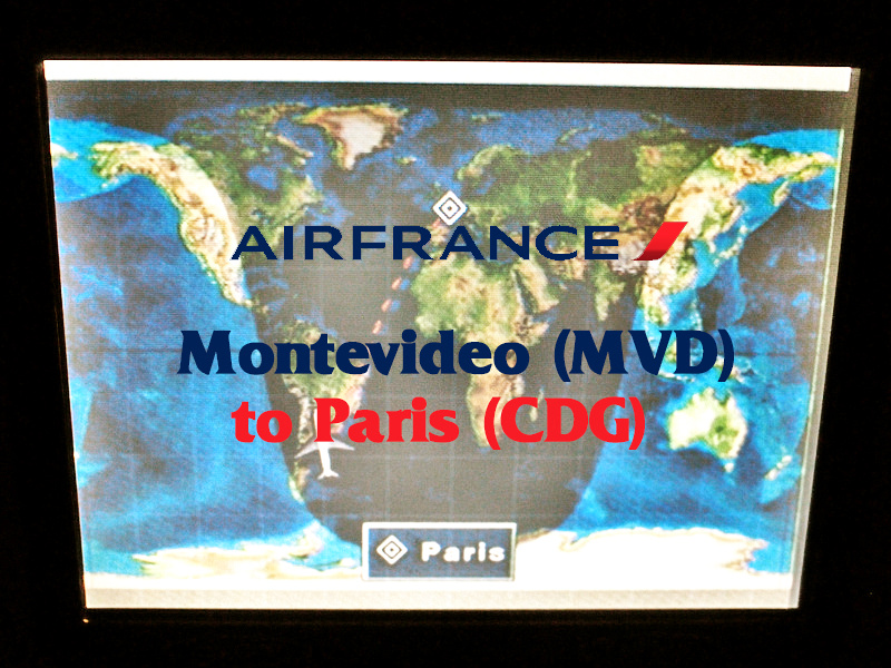 Air France - Montevideo (MVD) to Paris (CDG)