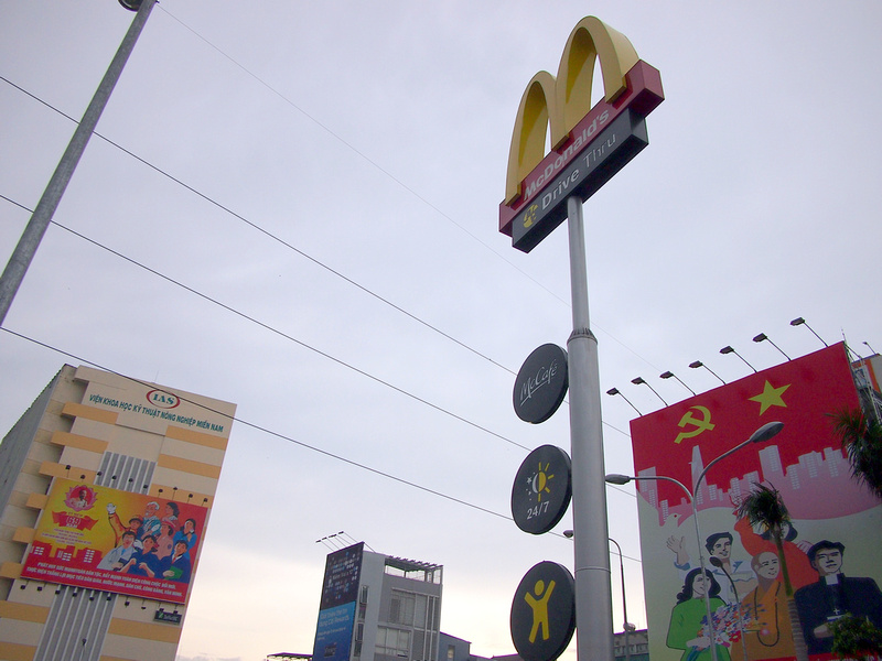 McDonalds and Propaganda sign