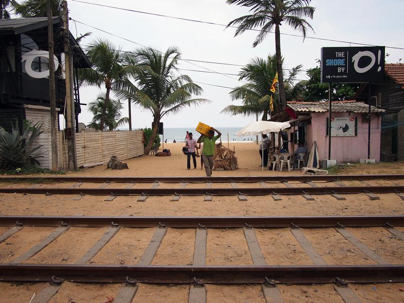 Train line at Mount Lavinia