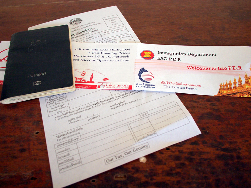 Laos immigration forms