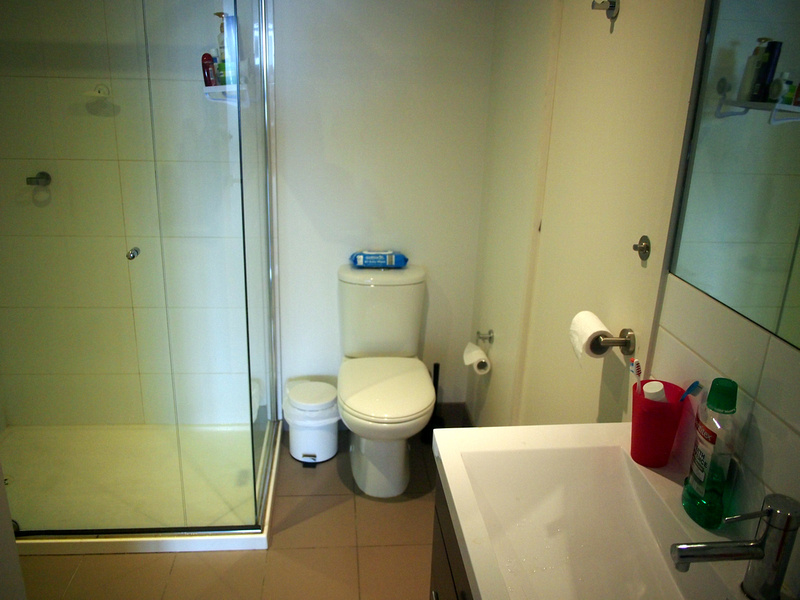 Southbank apartment bathroom