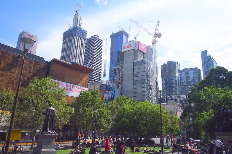 Melbourne sea of cranes