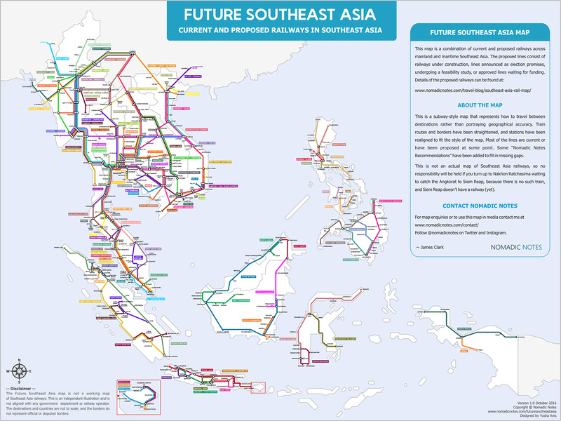Future Southeast Asia Railway Map