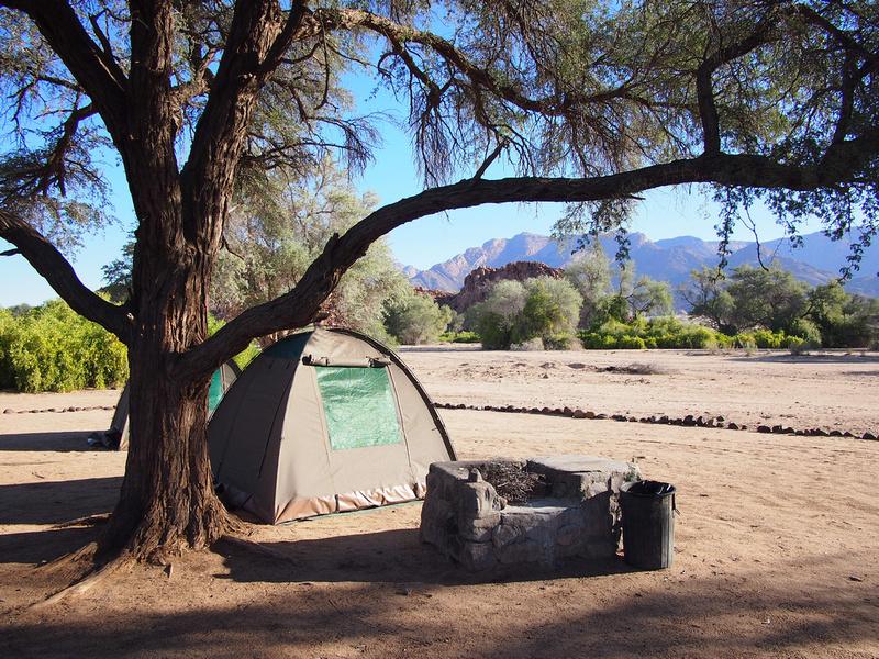 Camping at Brandberg Mountain