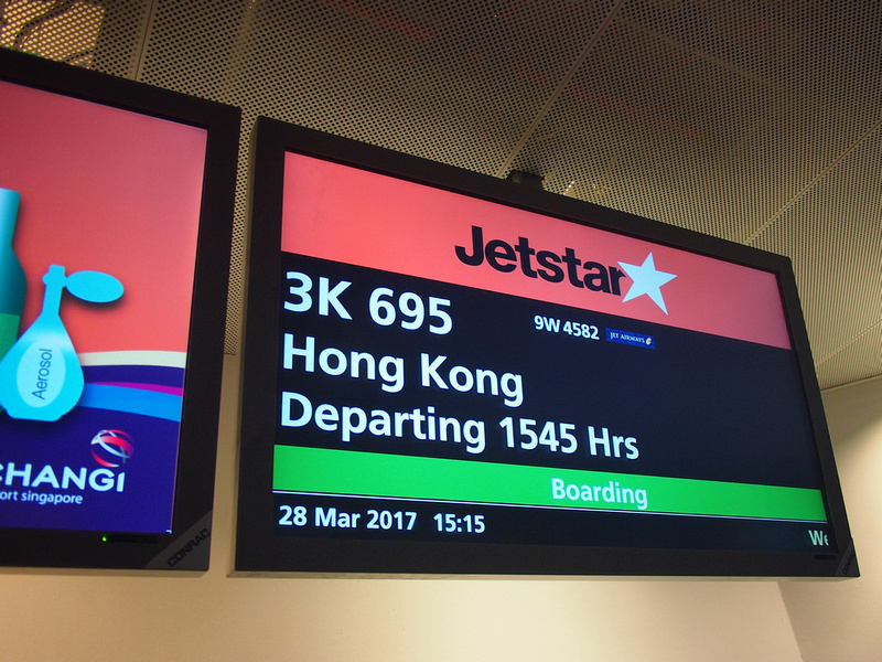 Jetstar Asia - Singapore to Hong Kong