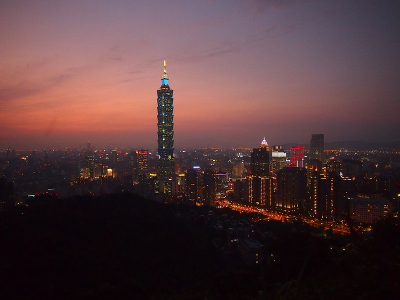 Taipei 101 at sunset