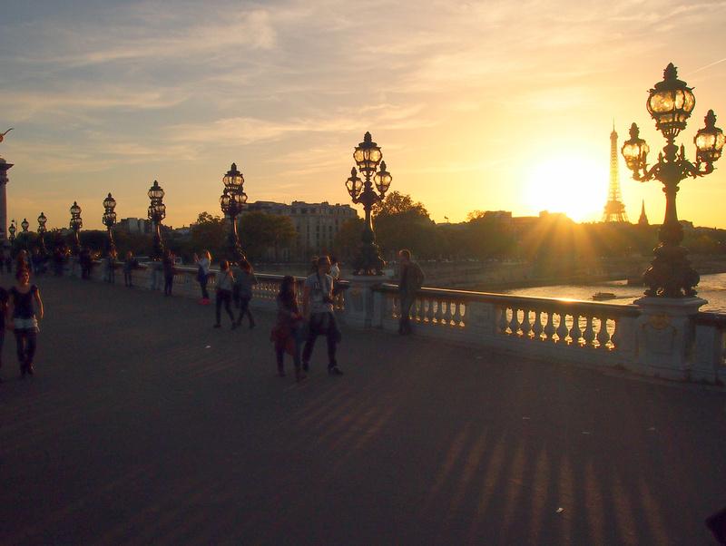 Pont Alexandre III at sunset
