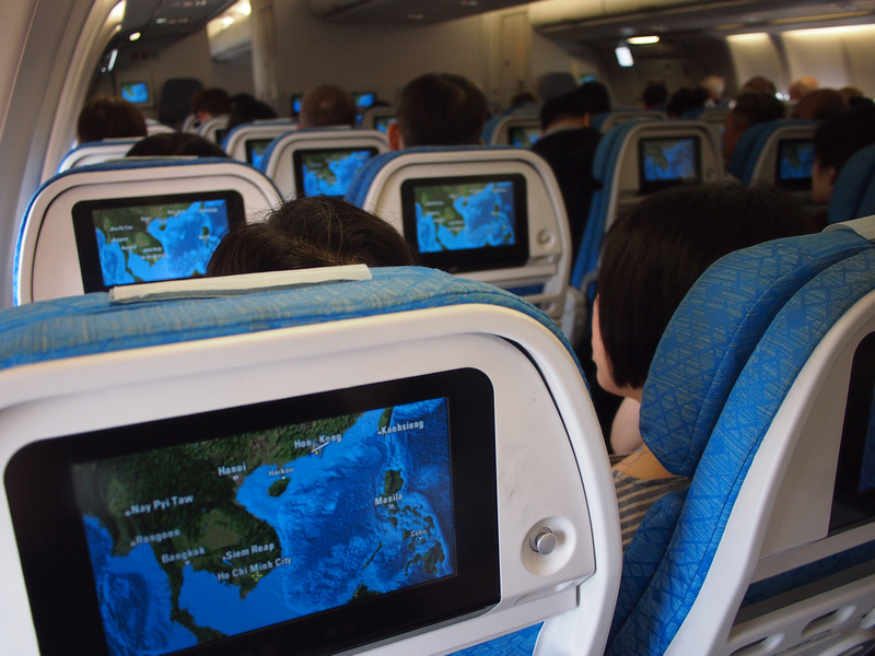 Cathay Pacific personal screens