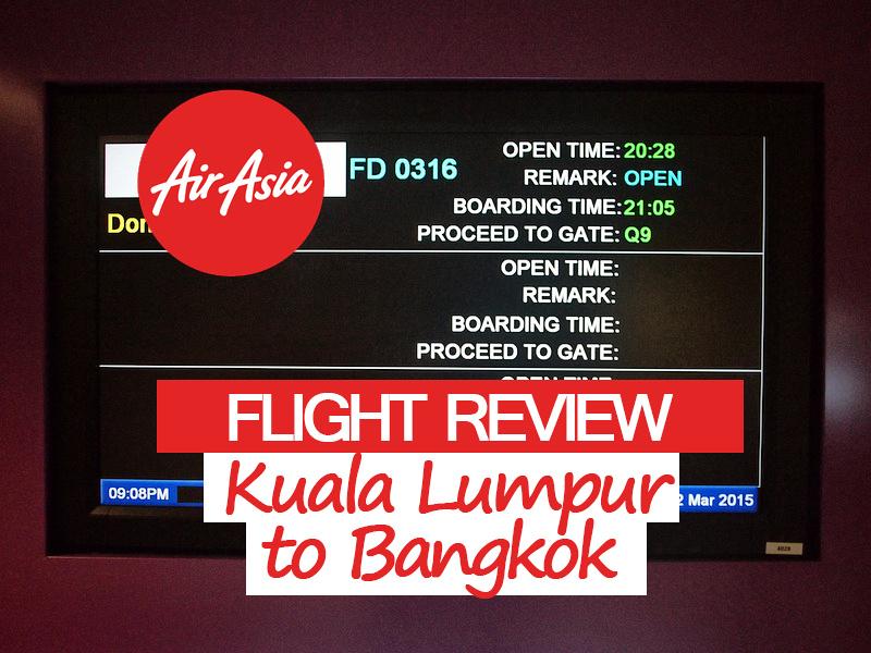 AirAsia – Kuala Lumpur to Bangkok