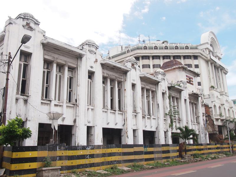 Boarded up building in Kota (Old Jakarta)