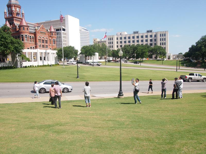 Tourists at assassination spot