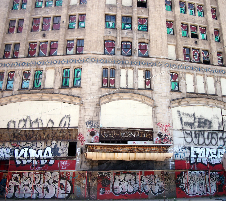 Boarded up building - Detroit