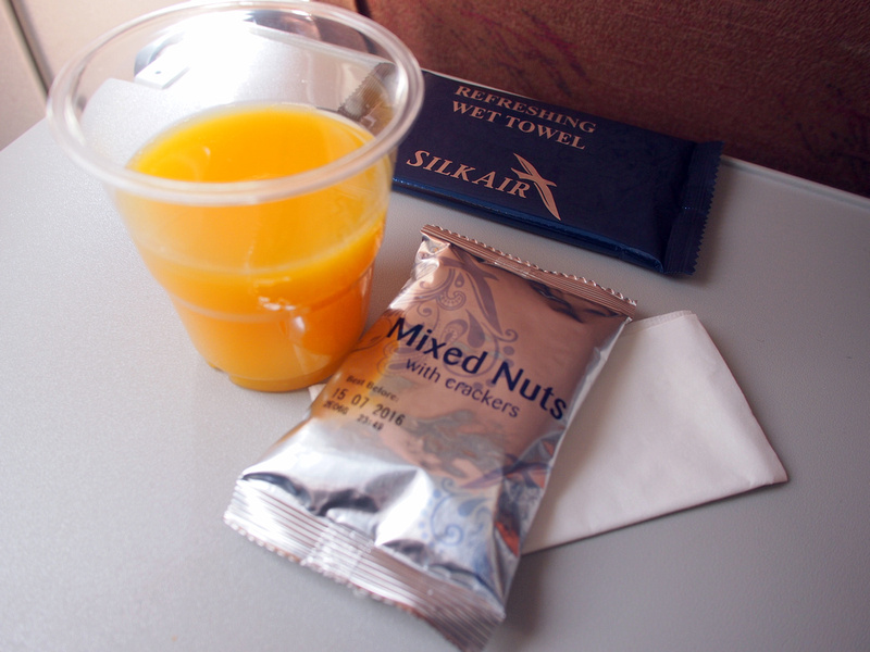 Orange juice and mixed nuts