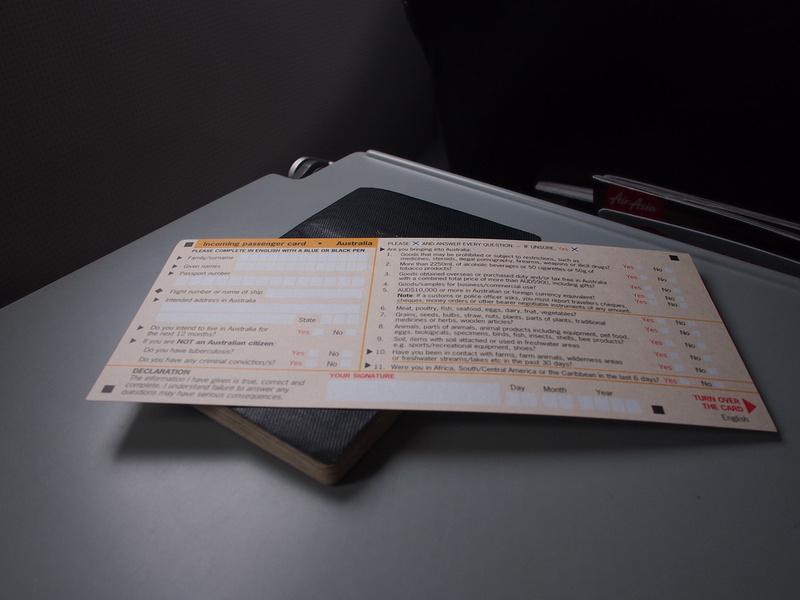Australian Arrival Card