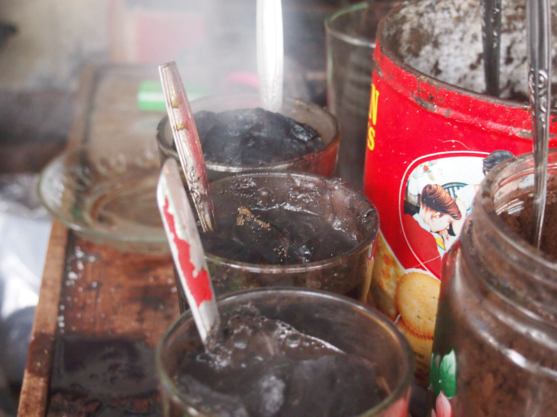 Steaming cups of Kopi Joss