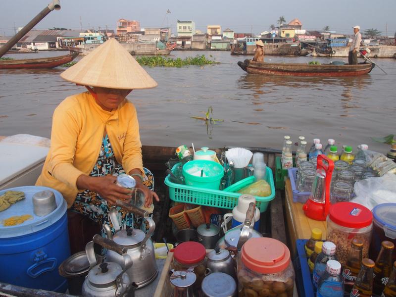 Coffee boat - Cai Rang