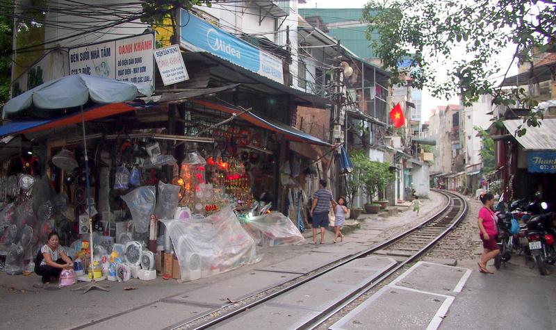 Hanoi railway track